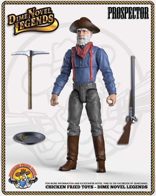 Chicken Fried Toys Dime Novel Legends The Prospector