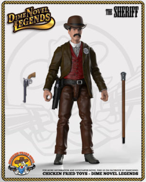 set of 5 dime novel legends action figures
